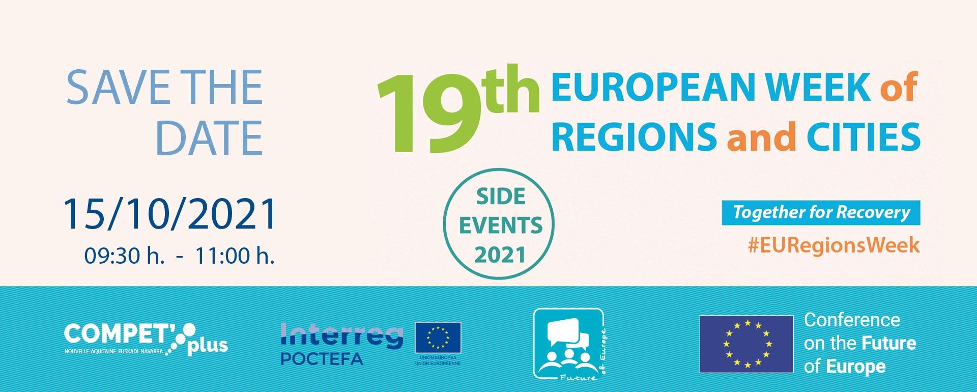 """El proyecto POCTEFA COMPET'plus seleccionado para organizar un """"side evento"""" en la Semana Europea de las Regiones y las Ciudades"""